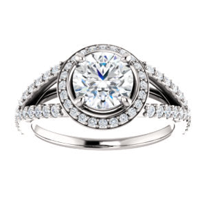 Split-shank Halo Ring