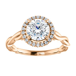 Twist Band Halo Ring