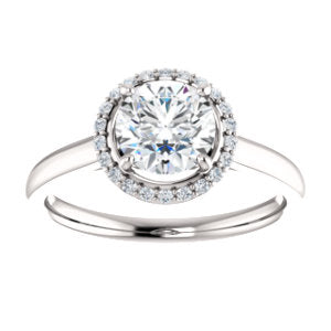 Solitaire Styled Halo Ring