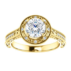 Vintage-look Halo Ring