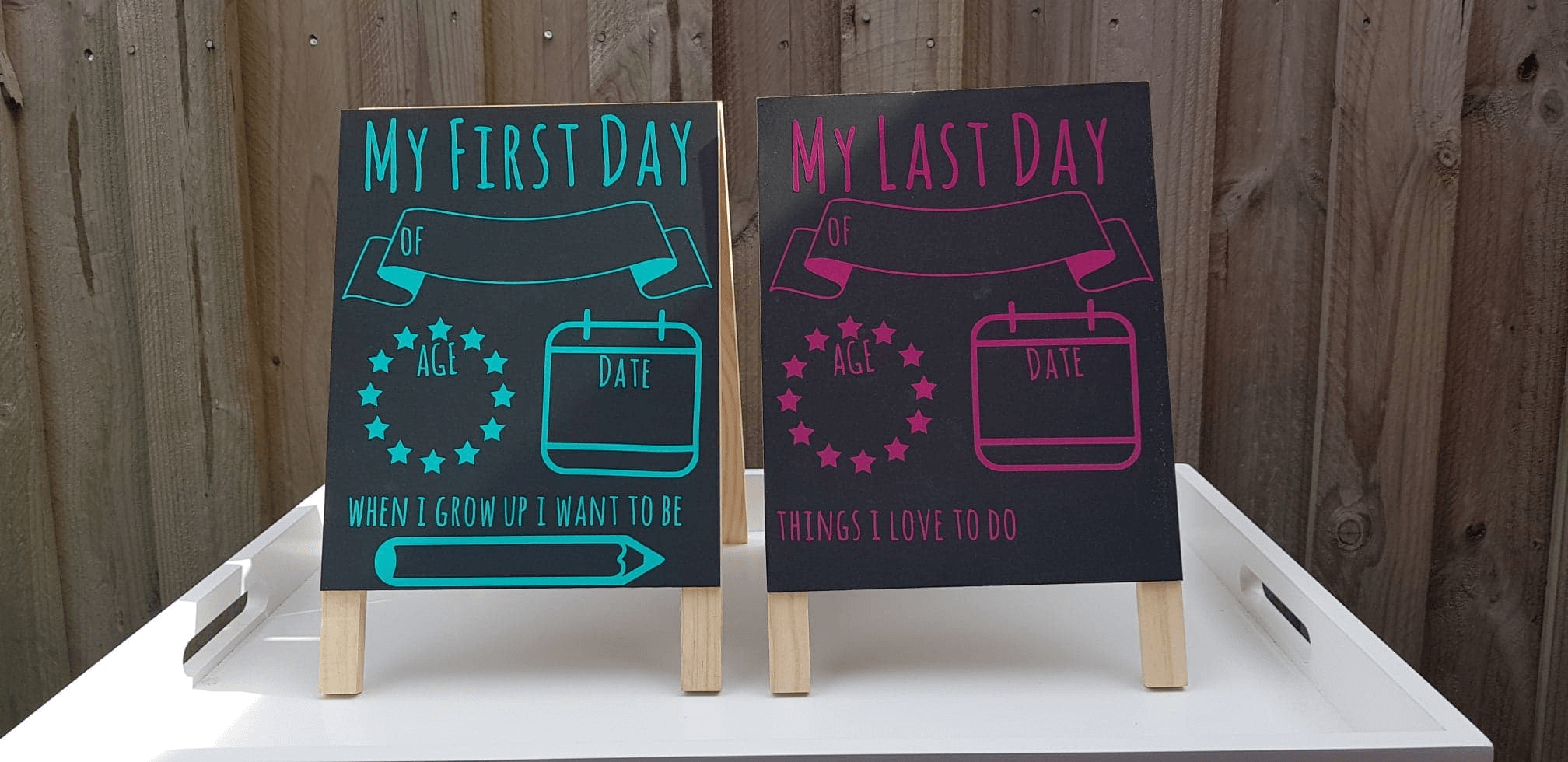 My First Day/Last Day Chalkboard