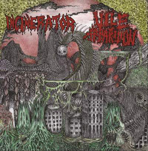 Incinerator /  Vile Apparition ‎– Incinerator  / Vile Apparition (CD)