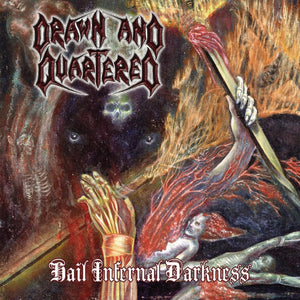 "DRAWN AND QUARTERED ""Hail Infernal Darkness"" (LP) second hand"