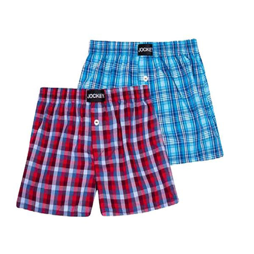 2 Pack Boys Woven Boxer