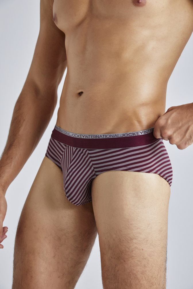 Jockey® Wine Stripe Brief
