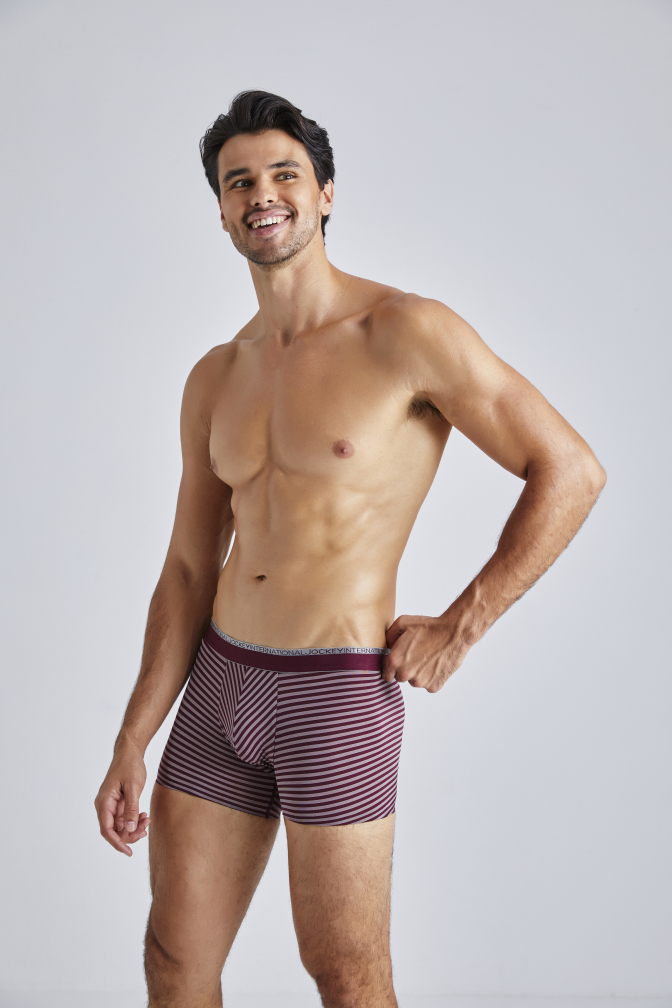 Jockey® Wine Stripe Pouch Trunk