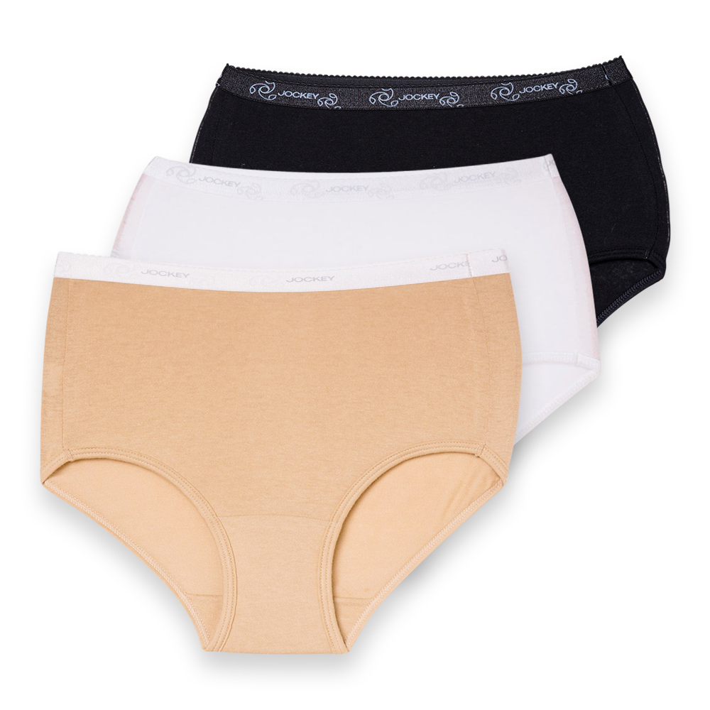 Jockey® 3 Pack Cotton Full Brief
