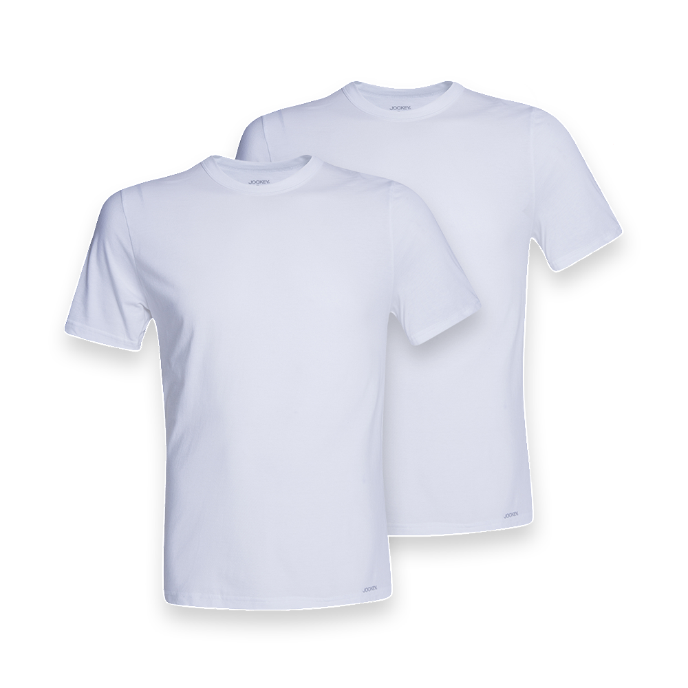 Jockey ® 2 Pack Crew Neck Undershirt