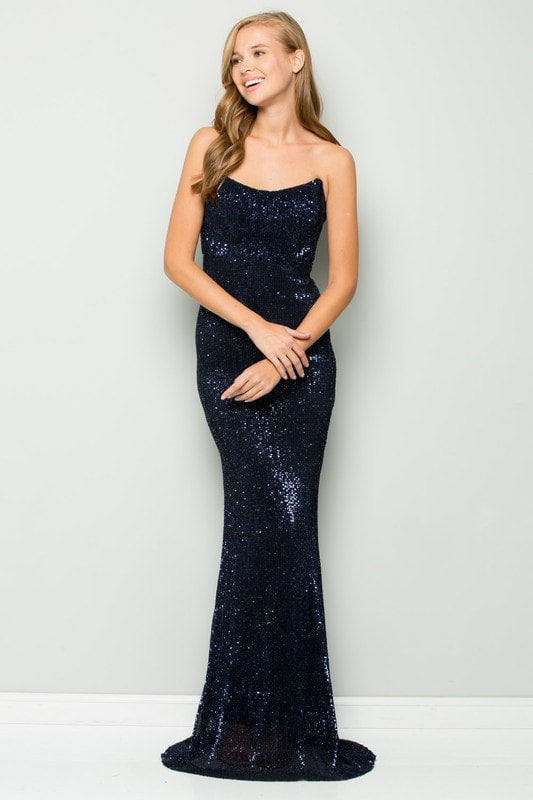 Midnight Sequin Dress