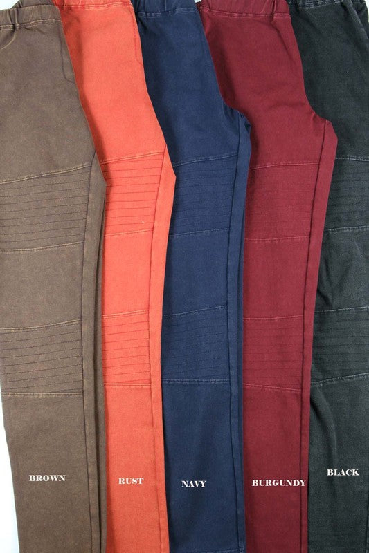 Moto Jeggings-multiple colors