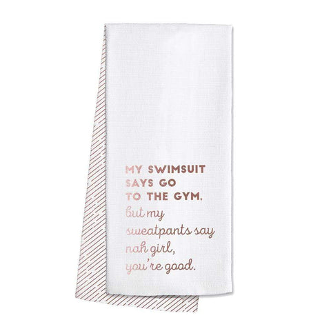 Swig Bar Towel My Swimsuit Says