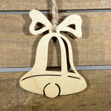 Christmas Bell Wooden Christmas Ornaments - cates-concepts.