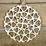 Circle of Hearts Wooden Christmas Ornaments - cates-concepts.