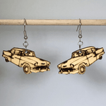 Classic 55 Chevy Car Wooden Dangle Earrings - cates-concepts.