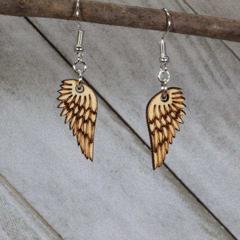Angel Wing Feathered Dangle Earrings