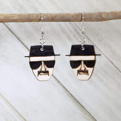 Breaking Bad Heisenberg Wooden Dangle Earrings