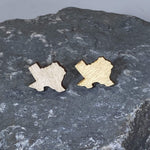 Plain, Wood Grain Texas State Wooden Stud Earrings