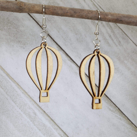 Hot Air Balloon Cutout Dangle Earrings
