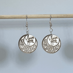 I Love You to the Moon and Back Wooden Dangle Earrings