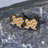 University Of Texas Chevrons Wooden Dangle Earrings - cates-concepts.