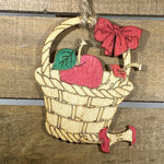 Apple Basket Wooden Ornaments - cates-concepts.