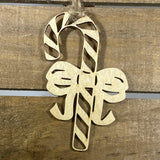 Candy Cane Wooden Ornaments