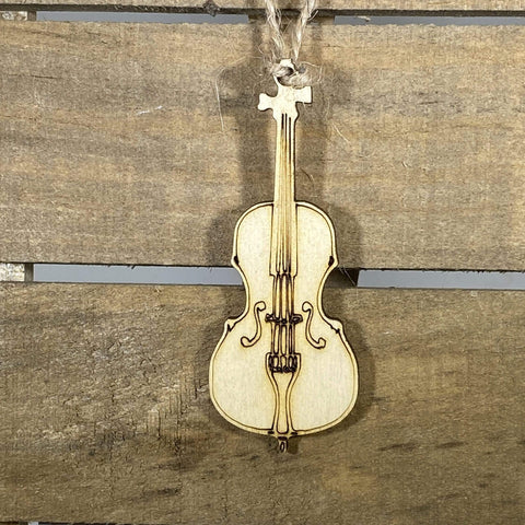 Cello Christmas Wooden Ornaments - cates-concepts.