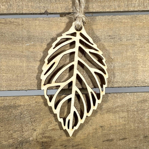 Cutout Leaf Wooden Ornaments - cates-concepts.