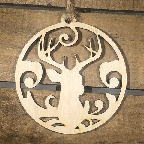 Deer Christmas Wooden Ornaments - cates-concepts.