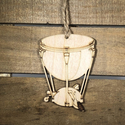 Kettle Drum Christmas Wooden Holiday Ornaments