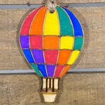 Rainbow Hot Air Balloon Wooden Christmas Ornaments - cates-concepts.