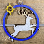 Reindeer Christmas Wooden Ornaments