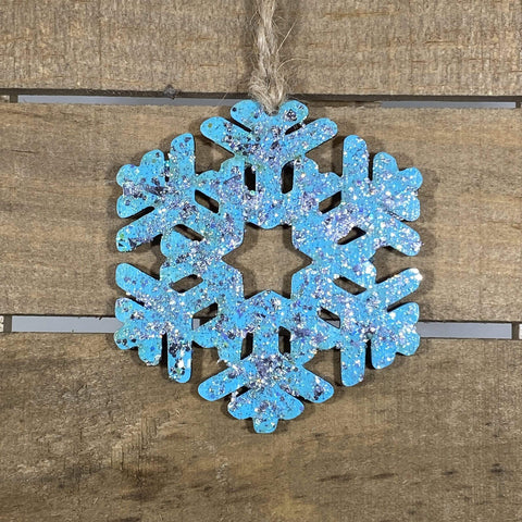 Winter Snowflake Wooden Ornaments