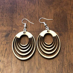 Art Deco Interlocking Circle Dangle Earrings