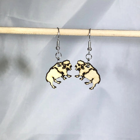 Buffalo Bison Dangle Earrings