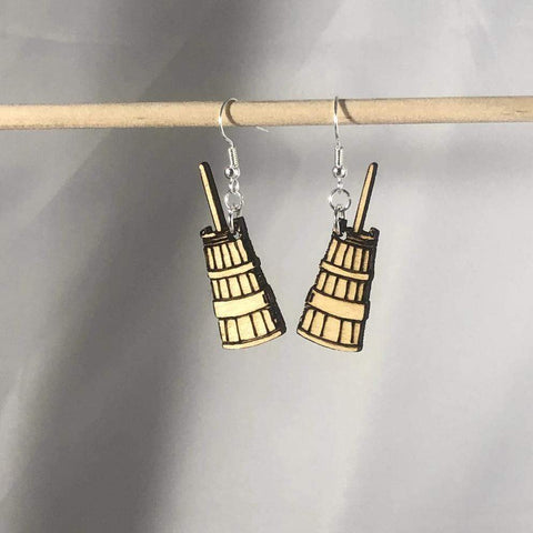 Butter Churns Dangle Earrings