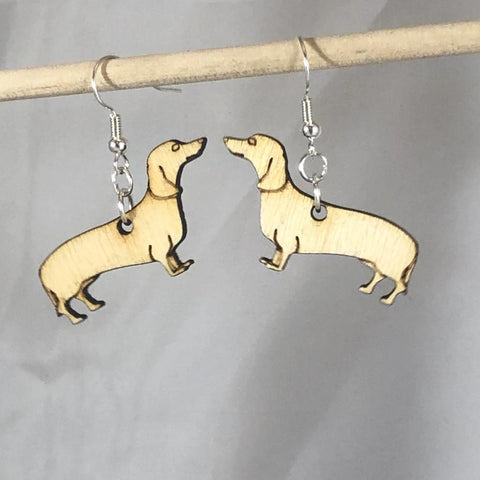 Dachshund Wiener Dog Dangle Earrings - cates-concepts.