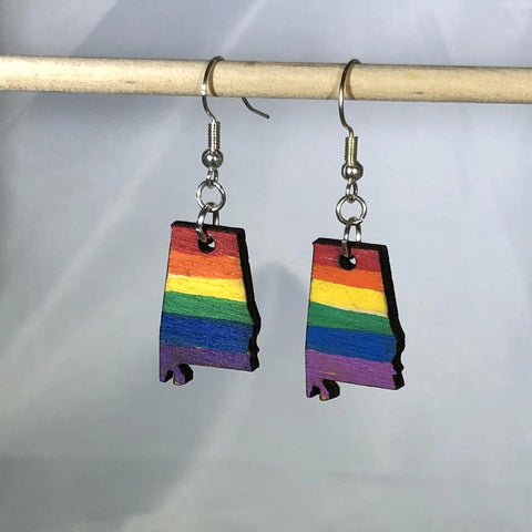 LGBTQ Mississippi State Pride Dangle Earrings - cates-concepts.