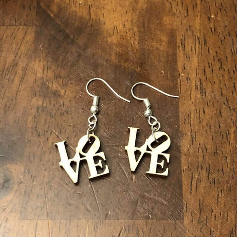 LOVE Earrings - cates-concepts.