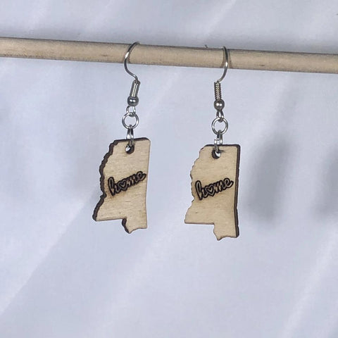 Mississippi State Home Dangle Earrings