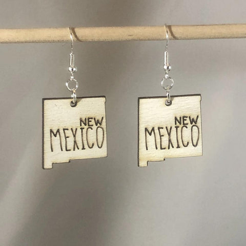 New Mexico State Dangle Earrings