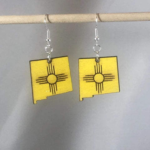 New Mexico State Zia Earrings