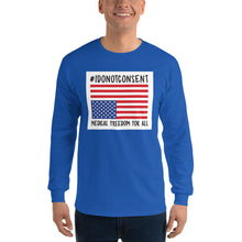 Load image into Gallery viewer, #IDONOTCONSENT with flag - Long Sleeve T-Shirt Unisex