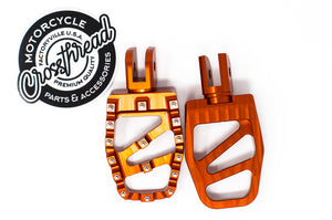 Softail MX Coffin Pegs Tangerine