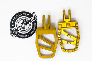 Softail MX Coffin Pegs Gold