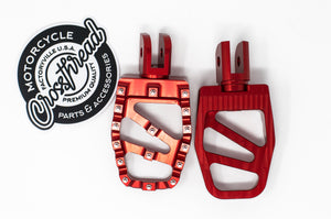 Softail MX Coffin Pegs Red