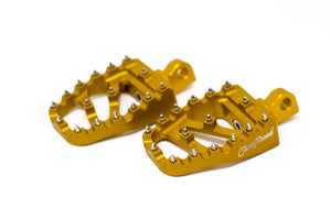 Open Box MX Coffin Pegs Gold