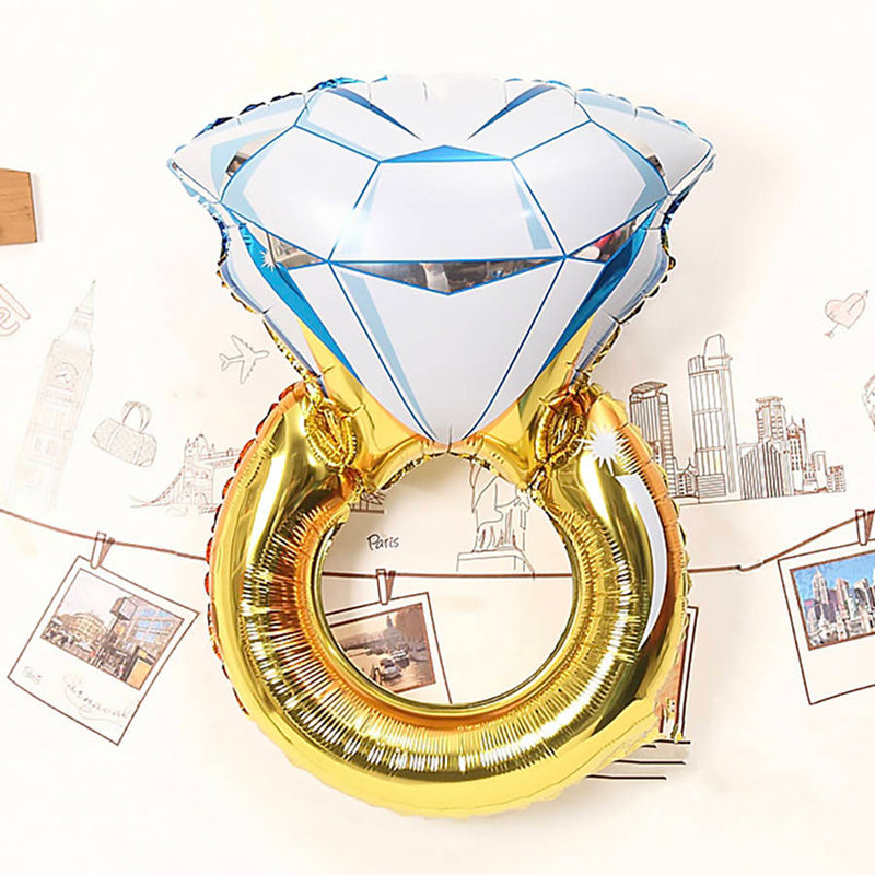 Engagement ring balloon for party or pictues