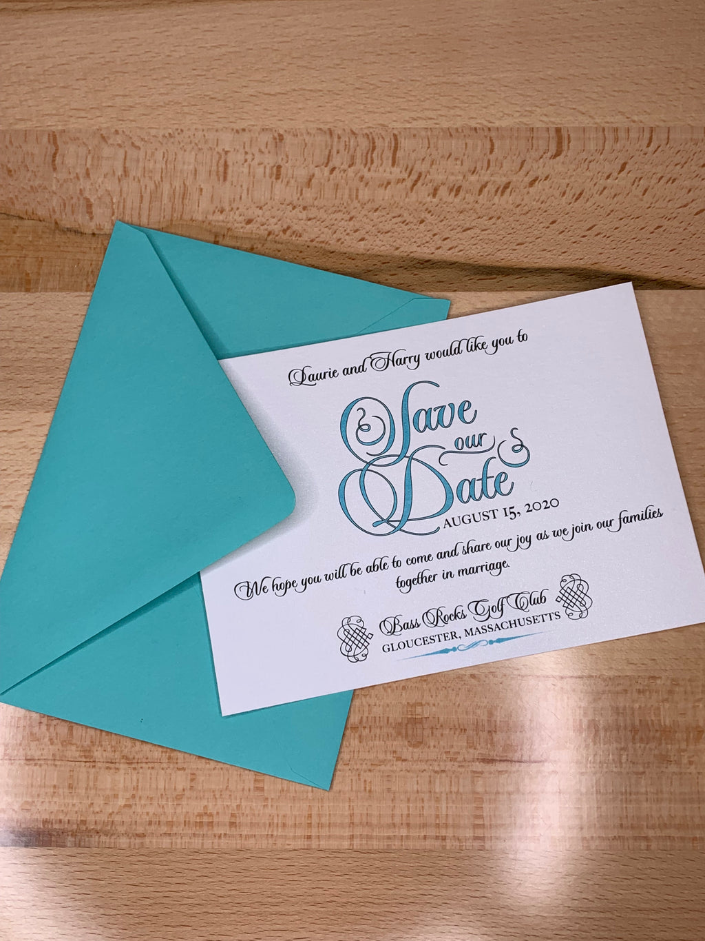 Tiffany Blue Save the Date