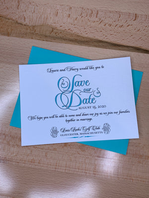 Unique Save the date invite